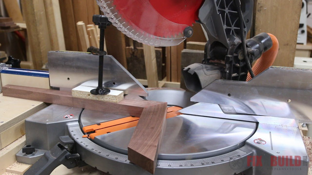 tapered and angled end table legs on the miter saw