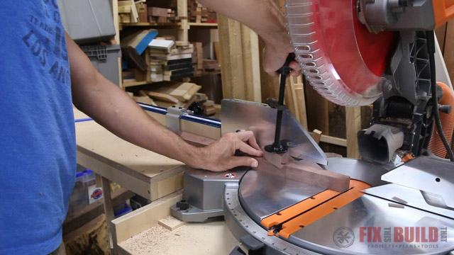 cutting beveled feet on tapered legs