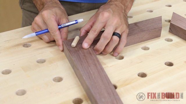 laying out dowel joinery