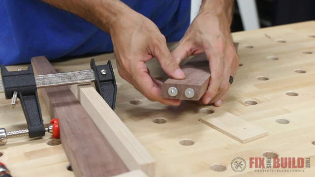 how to use dowel points