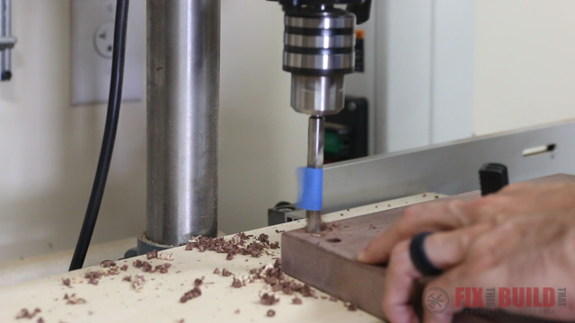 drilling dowel holes on the drill press