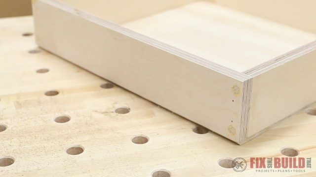routing a chamfer on the bottom of a drawer