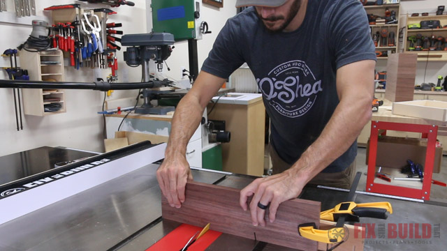 cutting out a wooden drawer handle