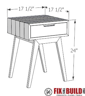 Modern DIY End Table Plans