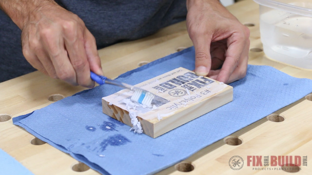 wood prints using water based polyurethane