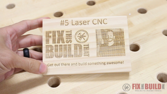 Print on Wood with a CNC laser