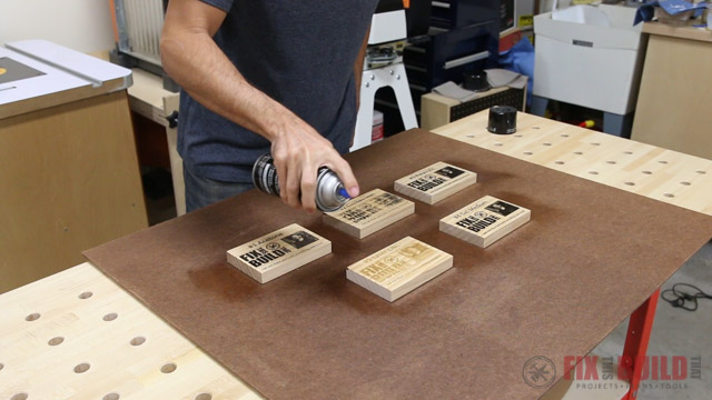 sealing wood prints with spray lacquer