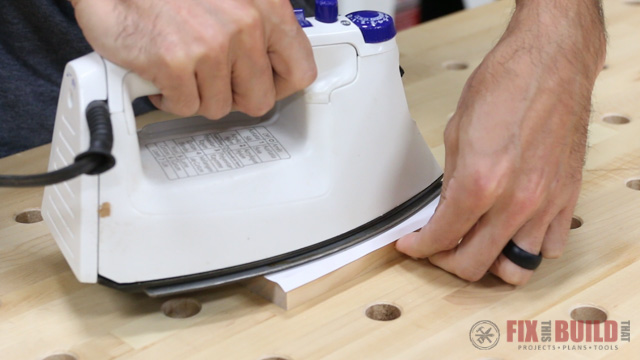 image transfer to wood with a clothes iron
