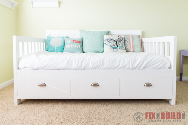 Twin Beds With Storage White