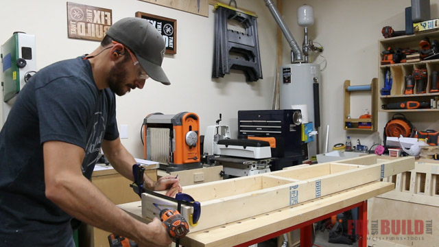 Making the daybed storage frame