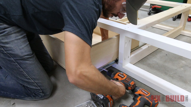 installing drawers in a diy daybed