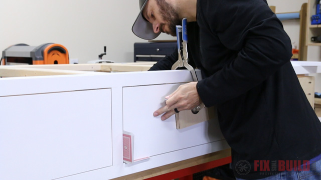 Mounting false drawer fronts