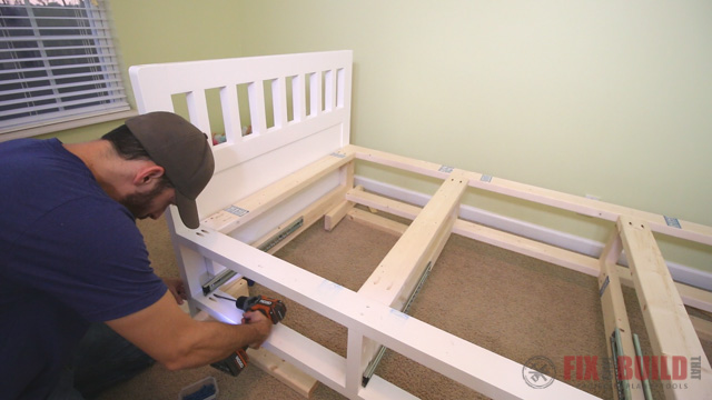 how to make a storage bed