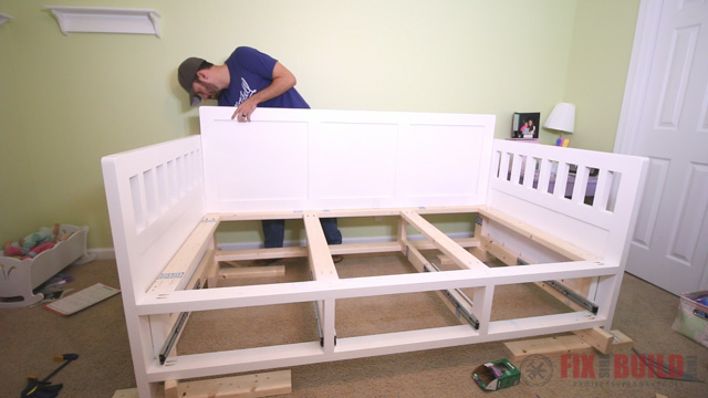 DIY Kids Bed With Storage Drawers Underneath
