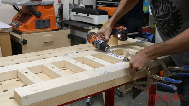 assembling a diy daybed