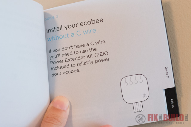 Ecobee4 Manual and C Wire Power Extender Kit