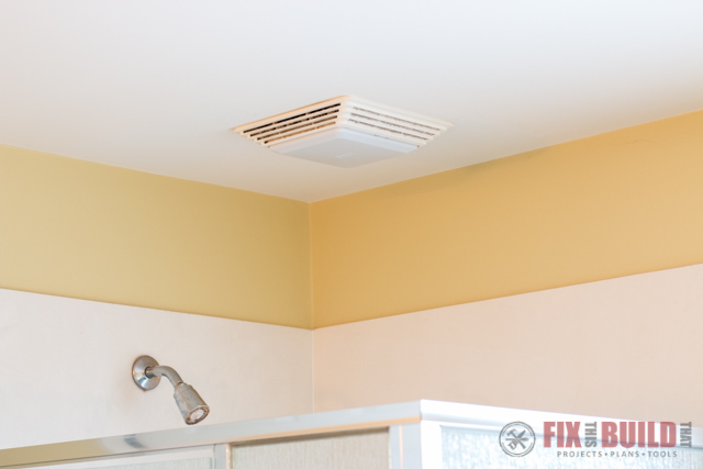 old bathroom exhaust fan exchange