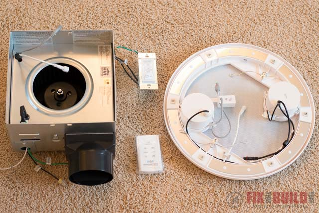 how to install a bathroom fan with bluetooth speakers