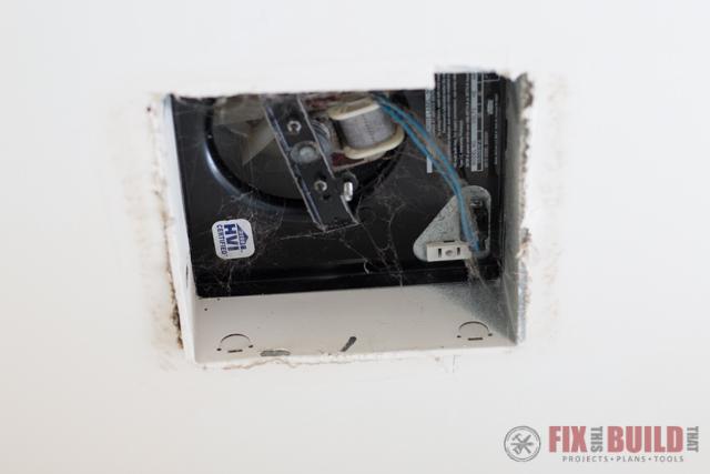 uninstalling an old bathroom fan