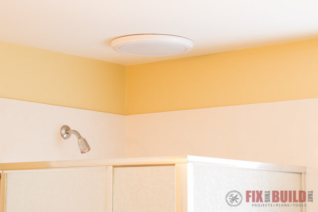 How To Install A Bathroom Fan With Bluetooth Speakers Fixthisbuildthat