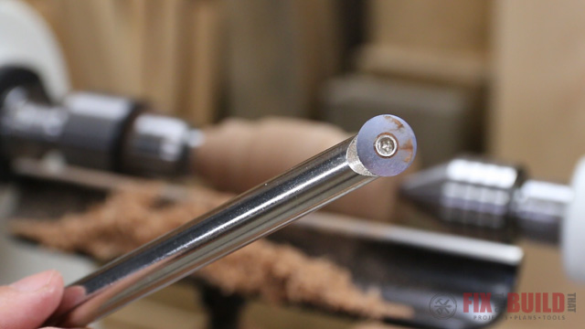 using a round carbide turning tool