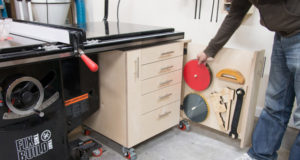 Table Saw Cabinet DIY Woodworking Storage Plans
