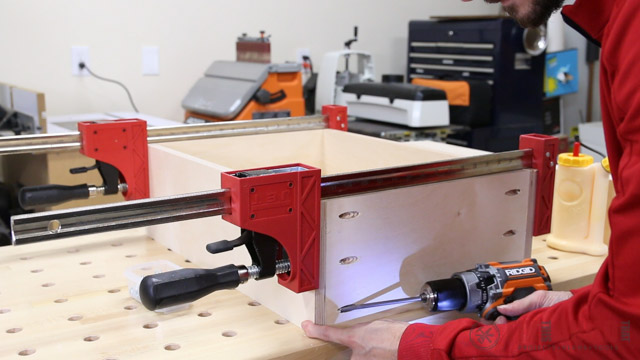 building cabinet drawers with pocket holes