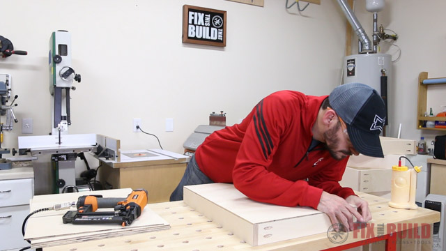 squaring up a cabinet drawer