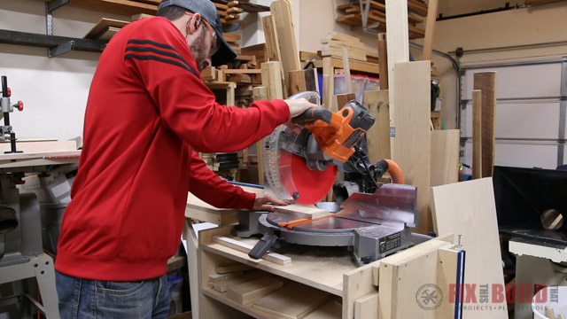 t-track stop on a miter saw station