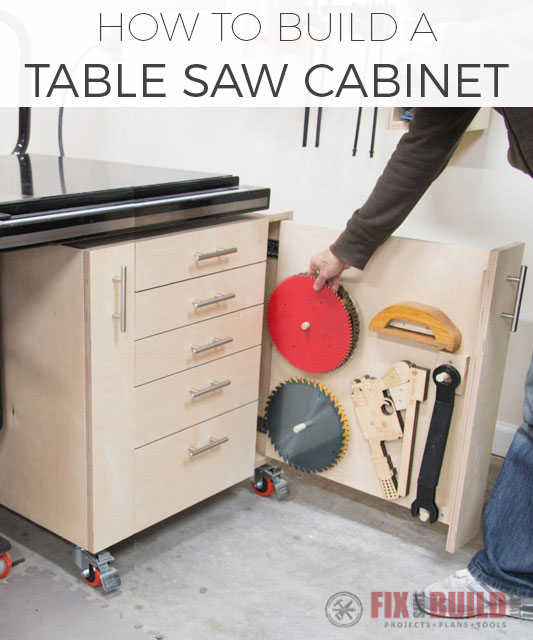 How to Build a Table Saw Cabinet