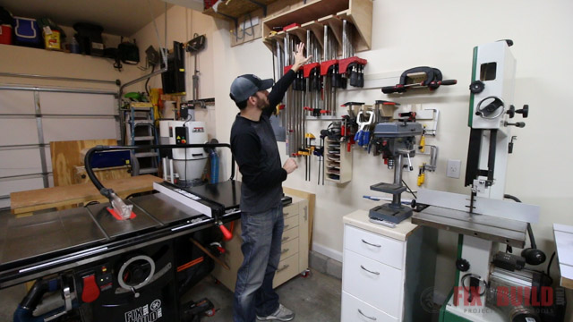 how to store clamps in a woodworking shop