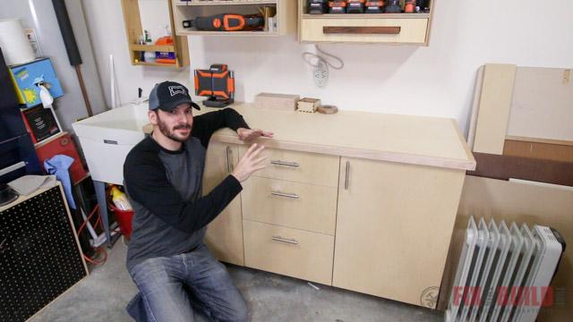 DIY woodshop base cabinet