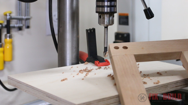 dowel joinery on the drill press