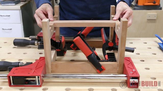 assembling a step stool