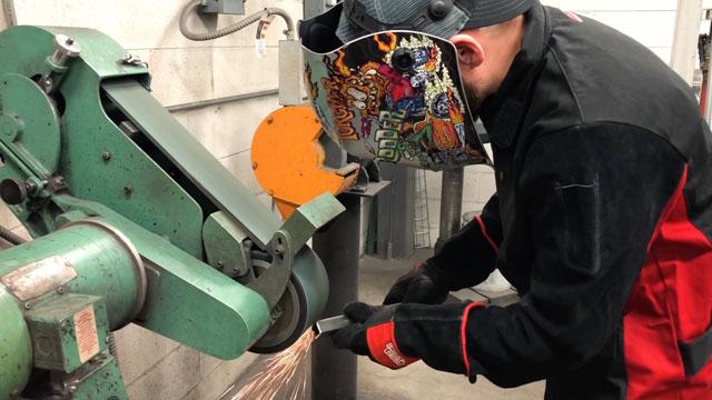 """grinding 1"""" tube steel"""