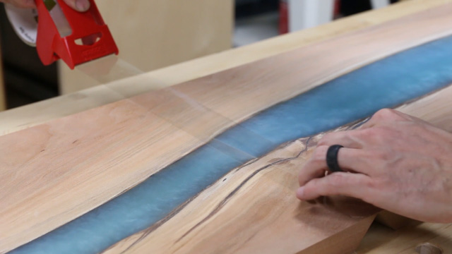 how to glue a waterfall table joint