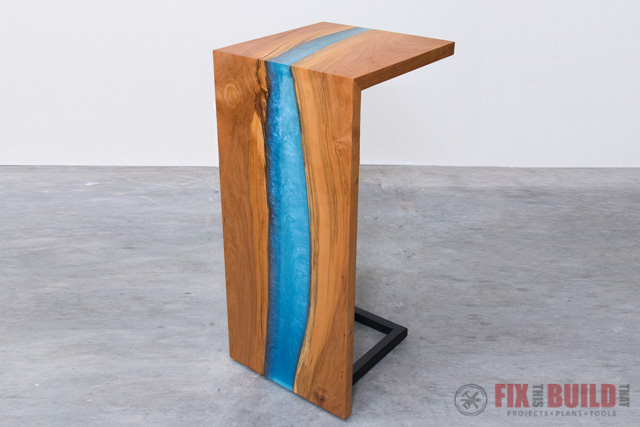 Diy Epoxy River Table With Waterfall Fixthisbuildthat