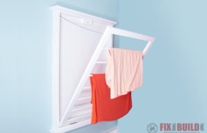 DIY Drying Rack for Clothes Wall Mounted