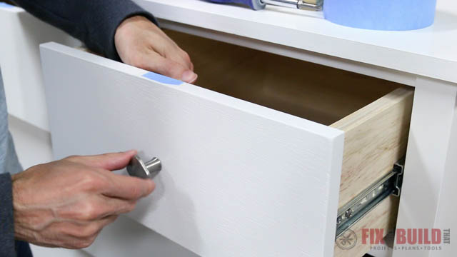 how to install drawer pulls evenly
