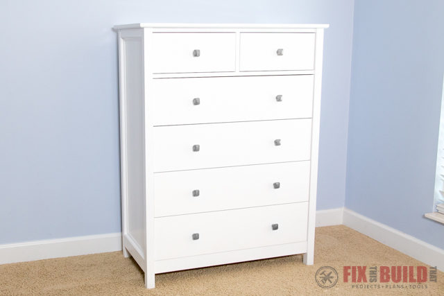 How To Build A Diy Dresser 6 Drawer Tall Dresser Fixthisbuildthat