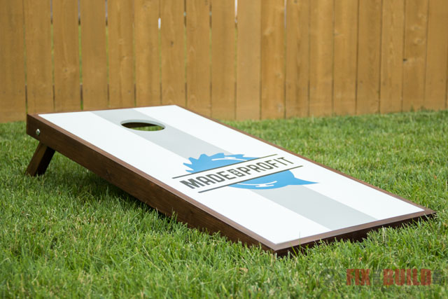 Diy Cornhole Boards With Custom Logos Fixthisbuildthat