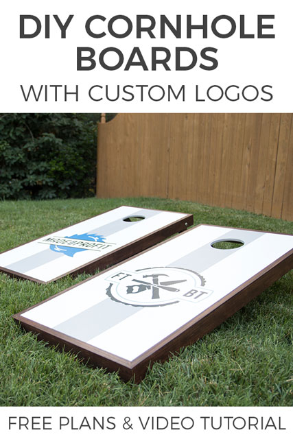 DIY Cornhole Boards with Custom Logos
