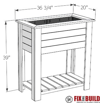 DIY Raised Planter Box Plans