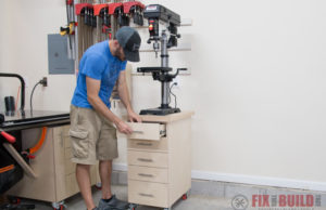 DIY Drill Press Stand Cabinet
