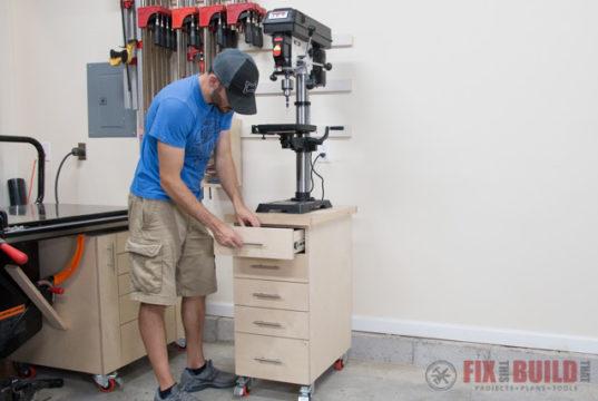 DIY Drill Press Stand Cabinet