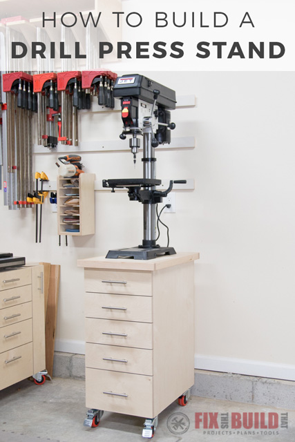 Diy Drill Press Stand With Storage Plans Amp Video