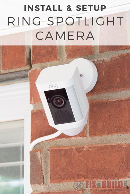Ring Spotlight Camera Install and Setup