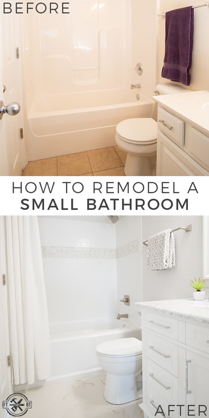 Diy small bathroom remodel fixthisbuildthat - Small bathroom remodel with tub ...