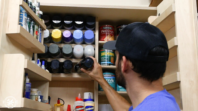 DIY Spray Paint Can Storage