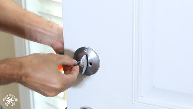 taking lock off door